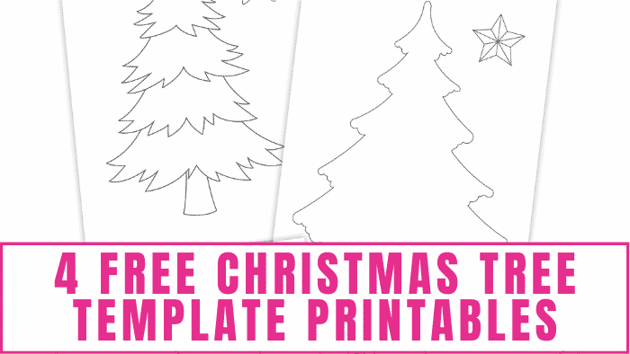 These free Christmas tree template printables can be used to make a 3D Christmas craft or the kids can have fun coloring and decorating them as Christmas coloring pages.