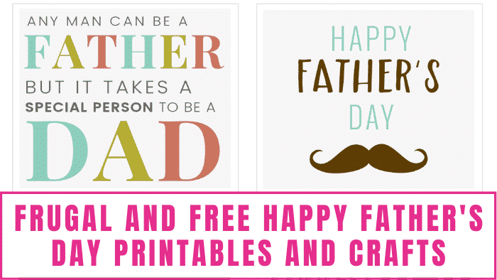 These free Father's Day printable cards great for kids and adults to give their dads.