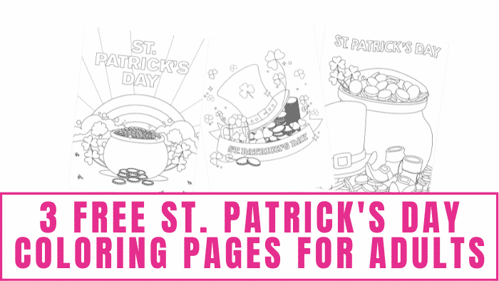 These beautifully detailed free St. Patrick's Day coloring pages for adults not only make for an enjoyable spring activity but when decorated they can be used as DIY St. Patrick's Day decorations.