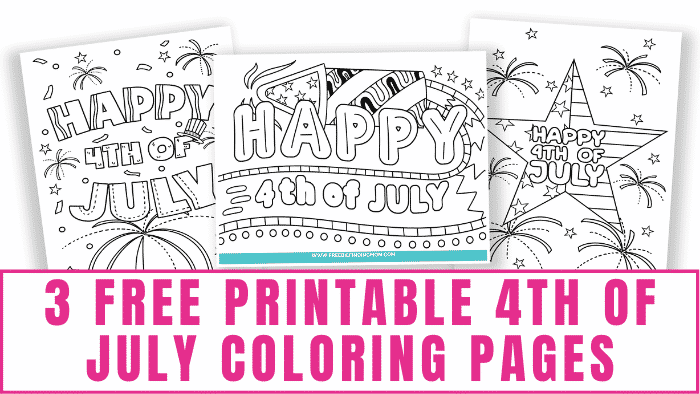 These free printable 4th of July coloring pages are a fun and safe way to celebrate our nation's independence. They make great 4th of July decorations too!