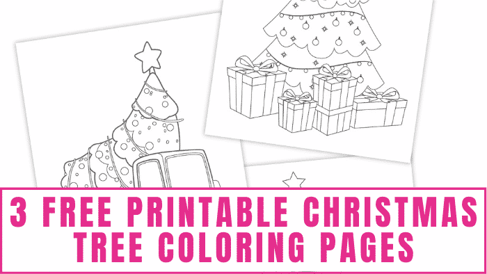 These free printable Christmas tree coloring pages are a fun Christmas activity for kids and they make great homemade Christmas decorations when they are finished.