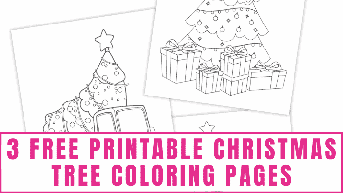 Kids and adults will have fun decorating these free printable Christmas tree coloring pages.