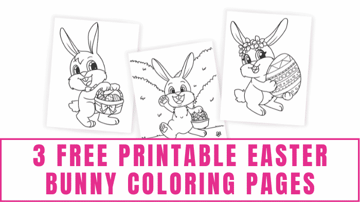 Your kids will have a hoppin' good time decorating these free printable Easter bunny coloring pages.