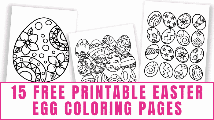 These free printable Easter egg coloring pages make great coloring pages for adults or kids since they are more detailed.
