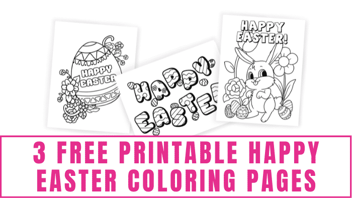 Not only are these free printable Happy Easter coloring pages a fun spring activity for kids but they also make great DIY Easter decorations.