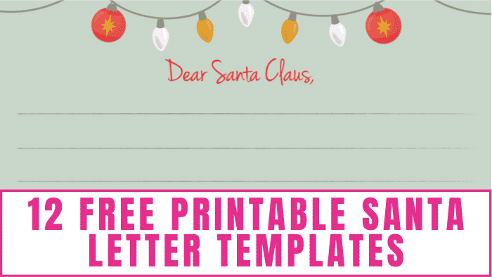 Download these free printable Santa letter templates to let the kids tell Santa what they want for Christmas.