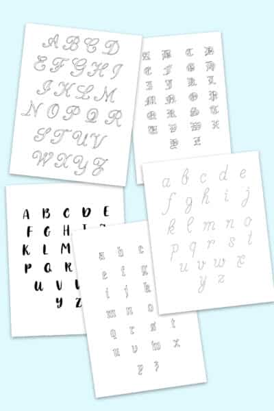 free printable alphabet calligraphy letters