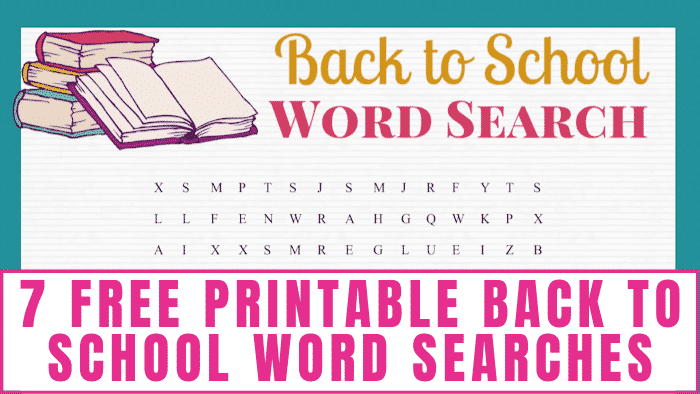 These fun free printable back to school word searches are an easy way to get the kids to do an educational activity.