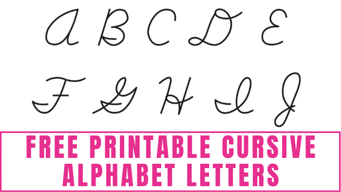 Want to learn how to write in cursive? These free printable cursive alphabet letters will help you. Simply print them then trace them multiple times until you can write in cursive free-hand.