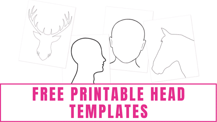 Do you have a budding artist in your family? Help them learn how to draw heads by giving them these free printable head templates to trace.