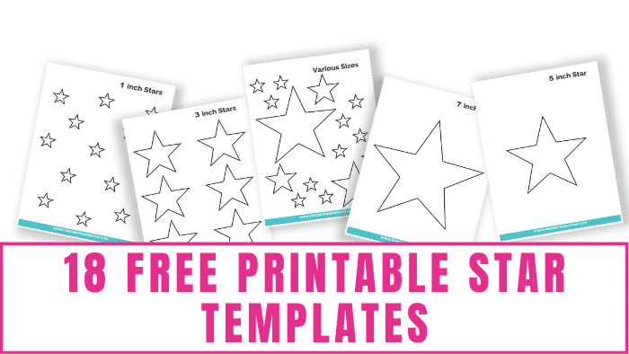 Free printable star templates can be used for a myriad of things including on chore charts, in crafts, for scrapbooking, as coloring pages for kids and more!