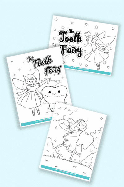 free printable tooth fairy coloring pages