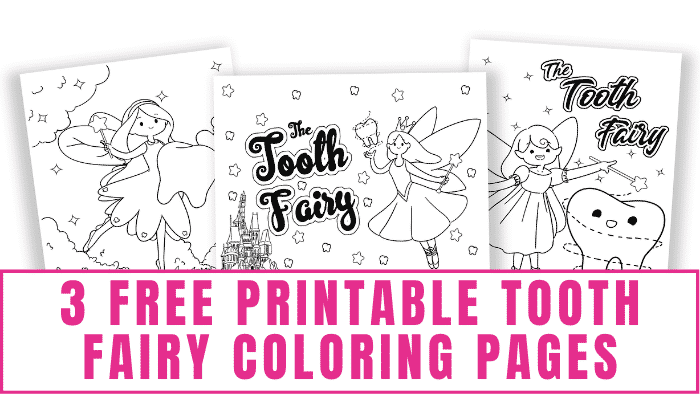 These free printable tooth fairy coloring pages are a fun way to get your kids excited about the Tooth Fairy's arrival.