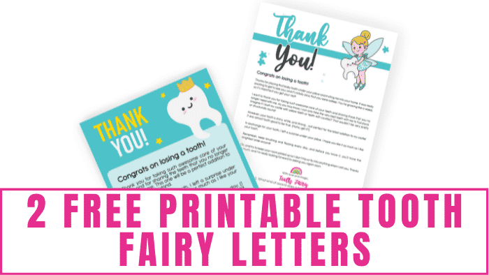 Free printable tooth fairy letters are a great way for the Tooth Fairy to introduce herself to your kid and let your kid know she left a surprise for them.