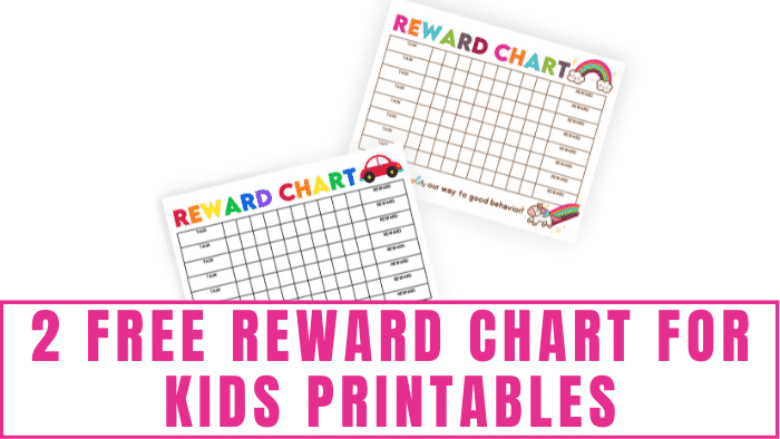 Encourage your kids to help out around the house by using these free reward chart for kids printables. If they have a reward they are working toward they will be more excited to complete their chores.
