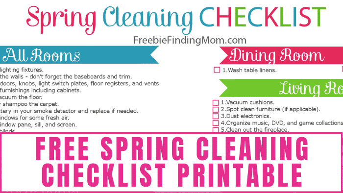 Want a freebie to help you keep your house clean? Download this free spring cleaning checklist printable to ensure nothing is overlooked while cleaning.