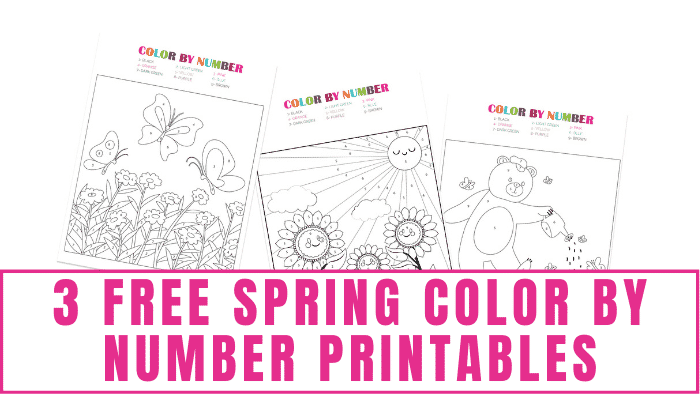 These free spring color by number printables are educational and fun. The kids will enjoy bringing these spring pictures to life with color while also reviewing their numbers at the same time.