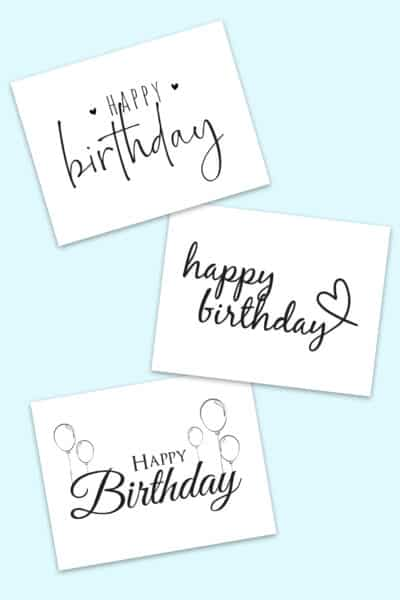 happy birthday calligraphy free printables