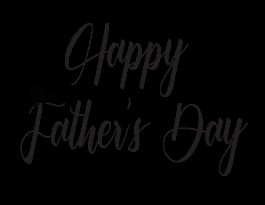 """Learn how to write """"Happy Father's Day"""" in cursive. Free printables like this make great writing tools and adorable Father's Day cards for dad."""