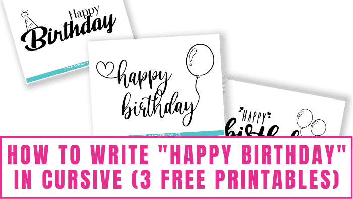 Want to know how to write happy birthday in cursive? Free printables like these make it easy since all you need to do is trace them until you create muscle memory and can write cursive letters free-hand.