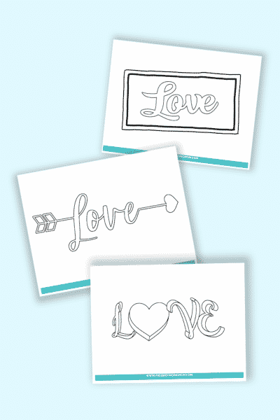 how to write love in cursive font free printables