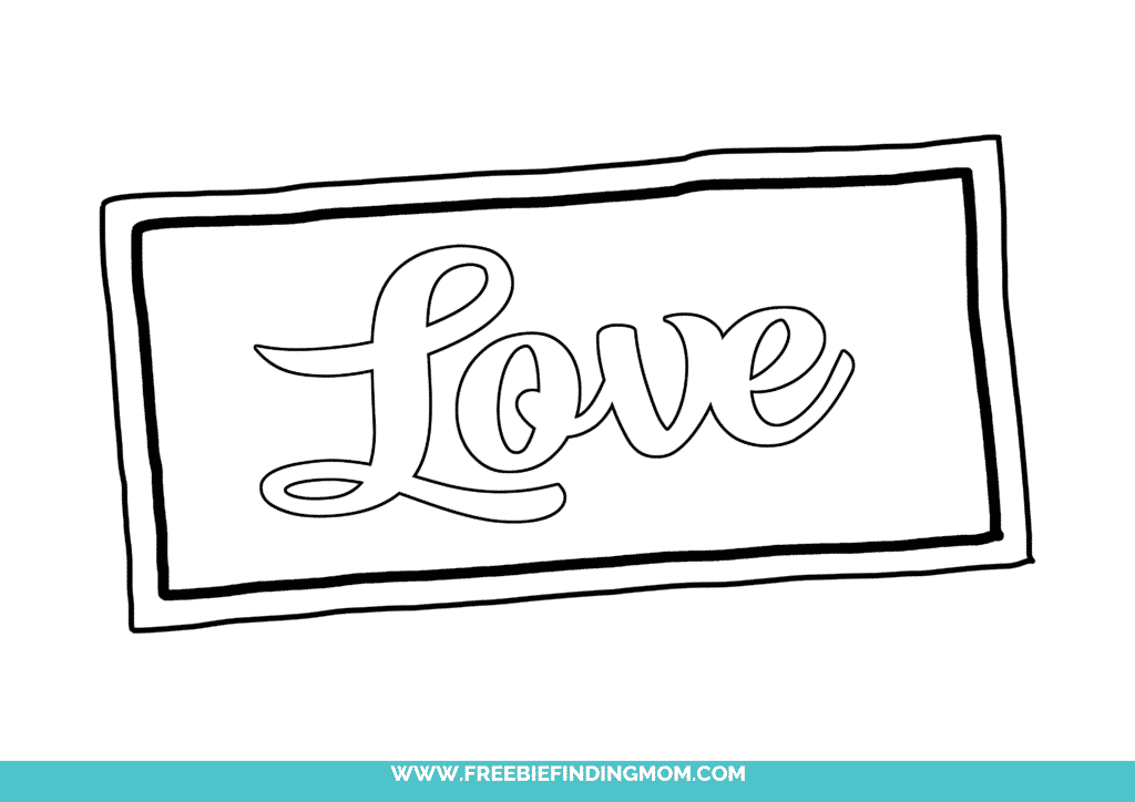 This love in cursive font free printable can help you take your love notes to the next level; this printable looks like a love note!