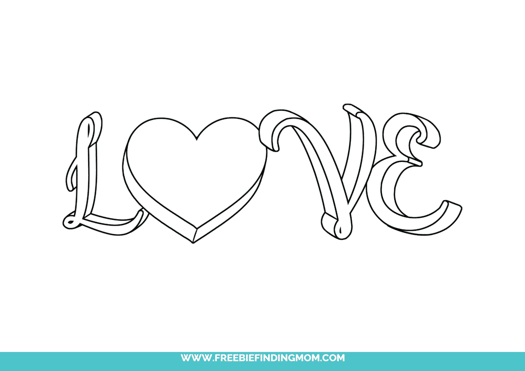 There are no 3D glasses required to make this love written in cursive free printable look like it's popping right off the page!