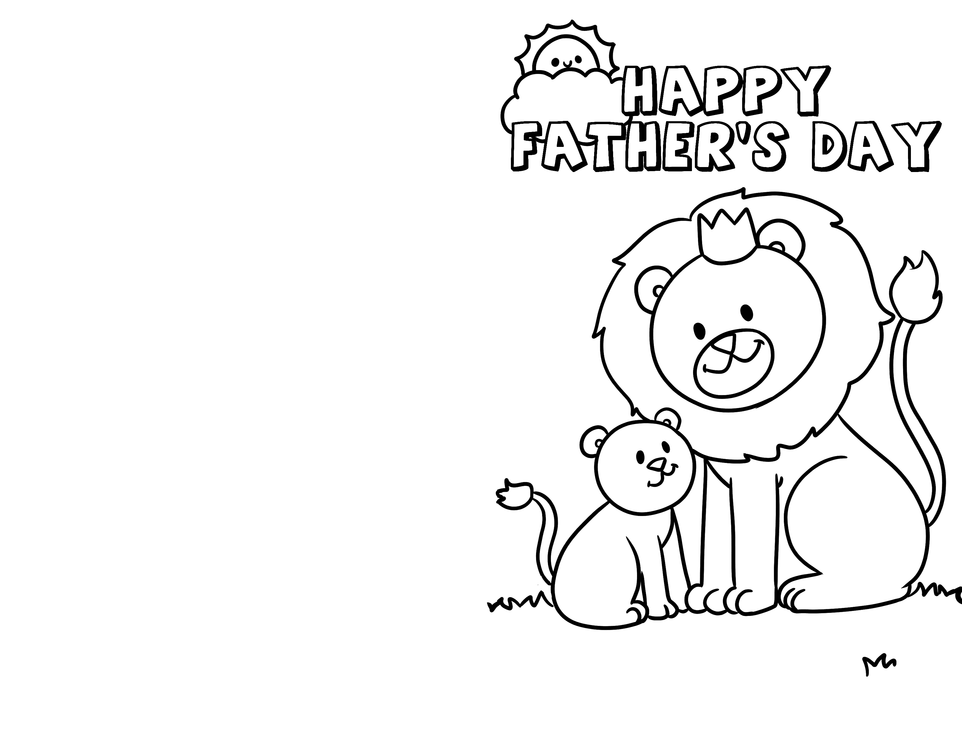 Don't forget about grandpa on Father's Day. The kids can make him feel special by decorating one of these printable Father's Day cards for Grandpa to color.
