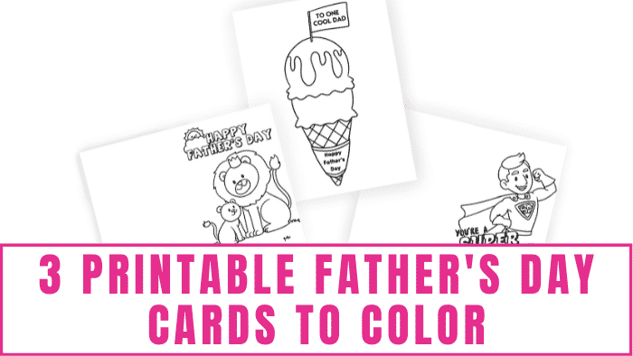 Do your kids want to make something for dad this Father's Day? How about they decorate one of these printable Father's Day cards to color? Any dad would love receiving one.