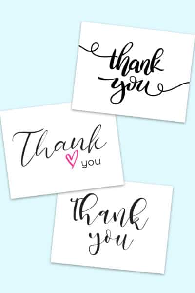 thank you calligraphy free printables