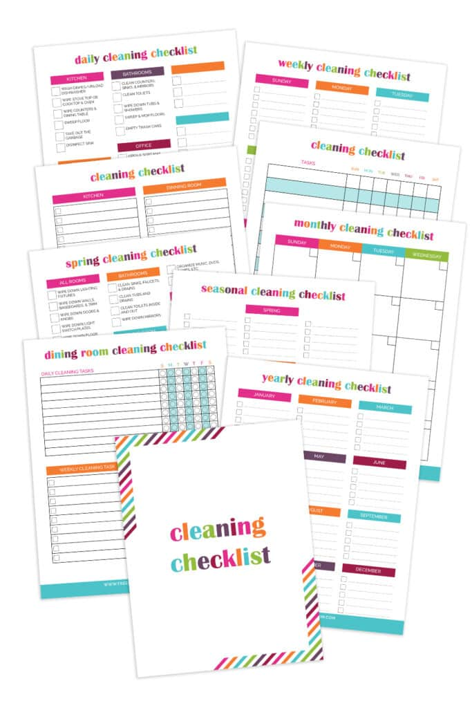 Ultimate Cleaning Checklist Bundle