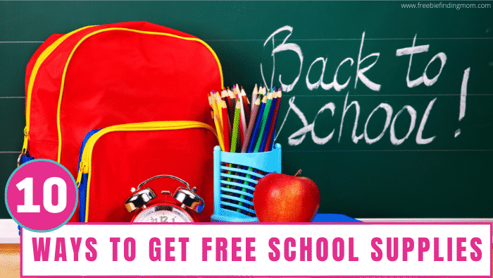 Regardless of what grade your kid is in, here you can learn ways to get free school supplies for college students and younger.