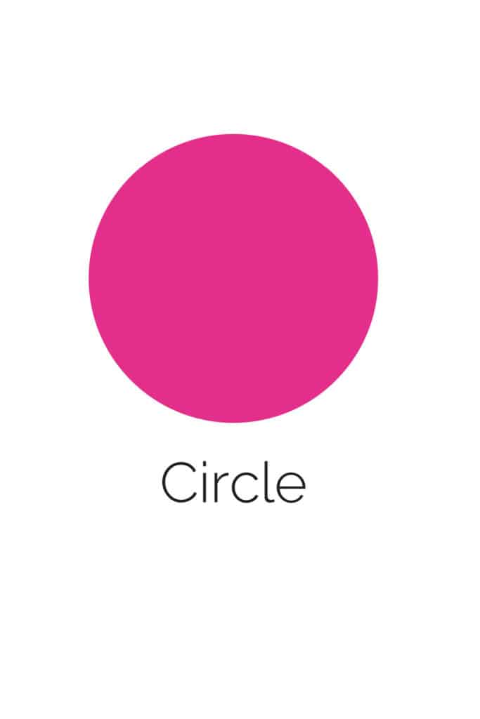 free printable circle shape with color