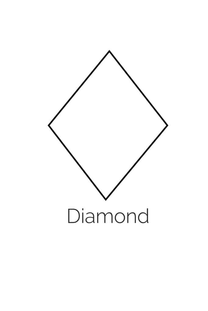 free printable diamond shape