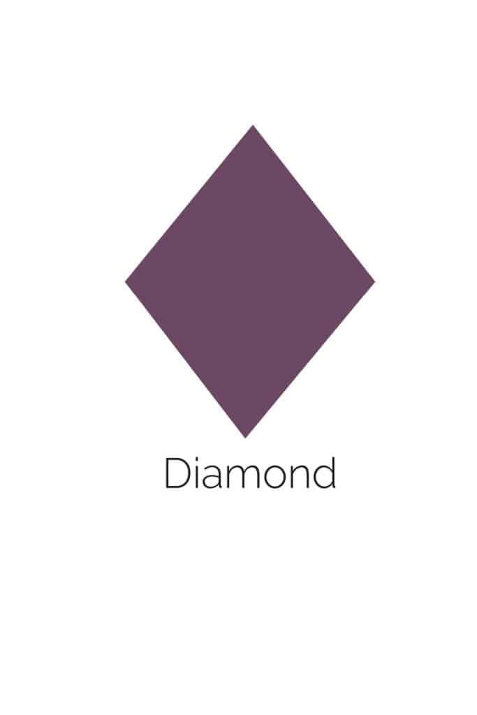 free printable diamond shape with color