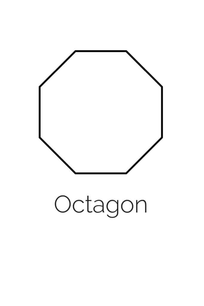 free printable octagon shape