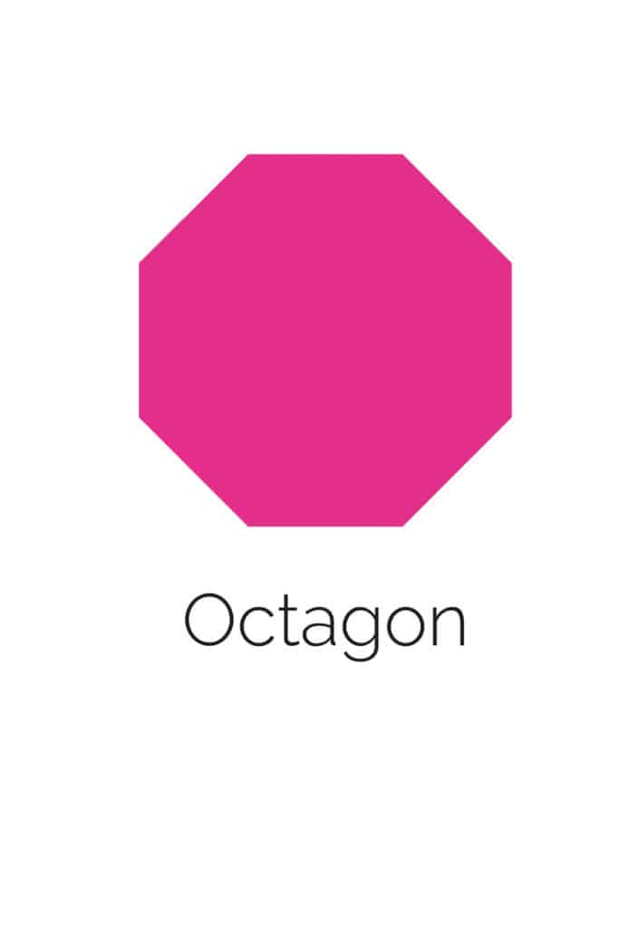 free printable octagon shape with color