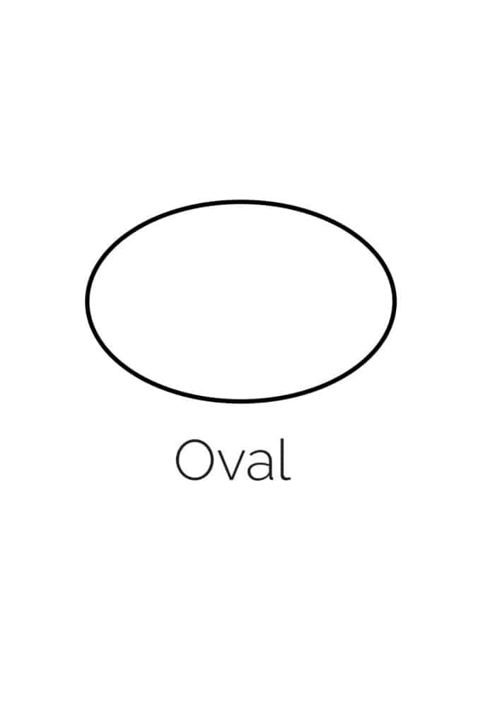 free printable oval shape