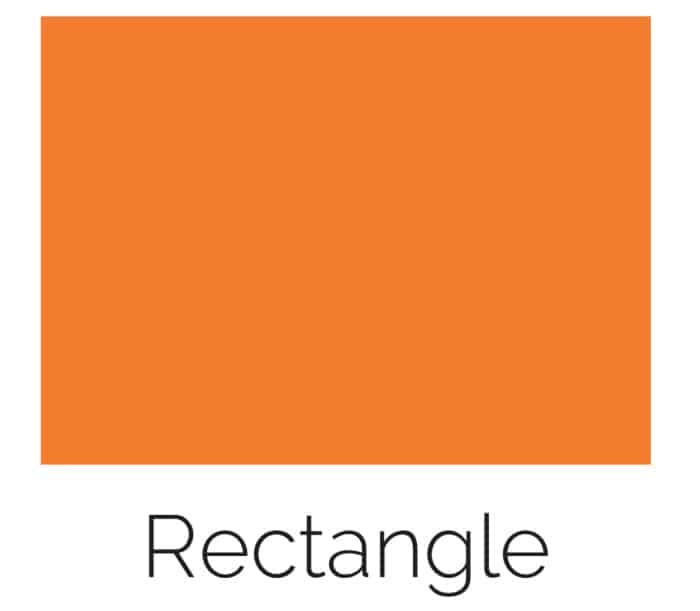 free printable rectangle shape with color