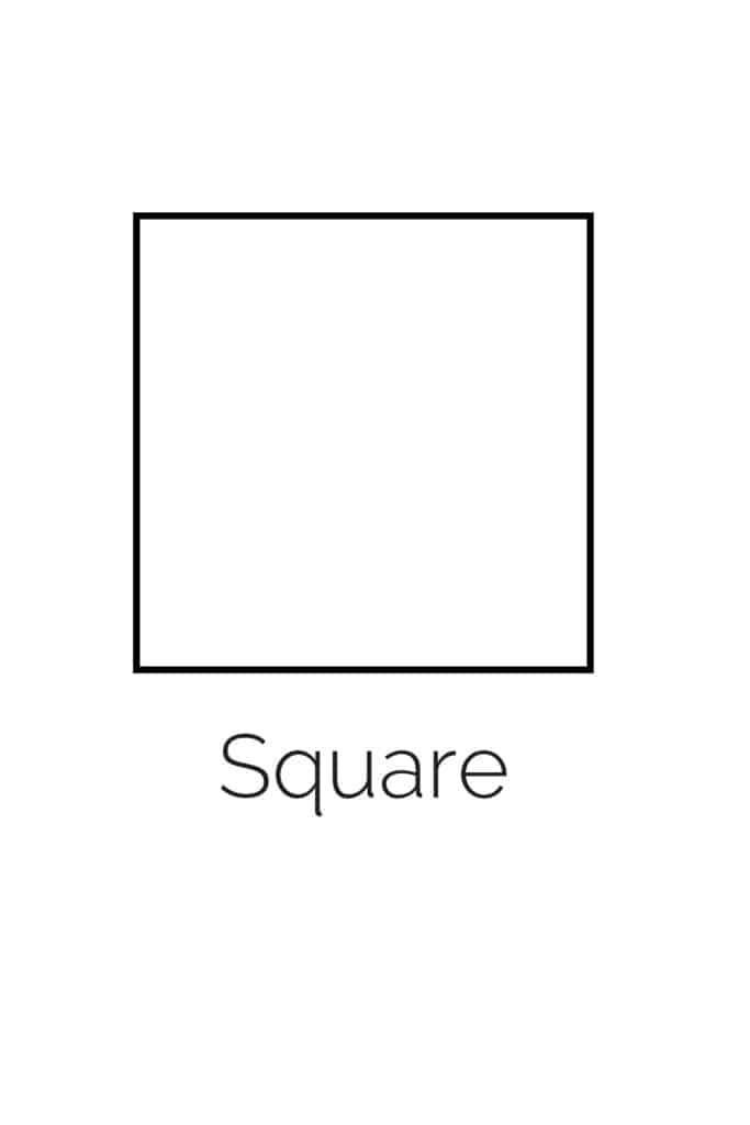 free printable square shape