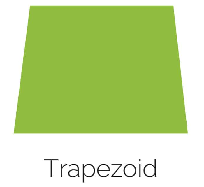 free printable trapezoid shape with color