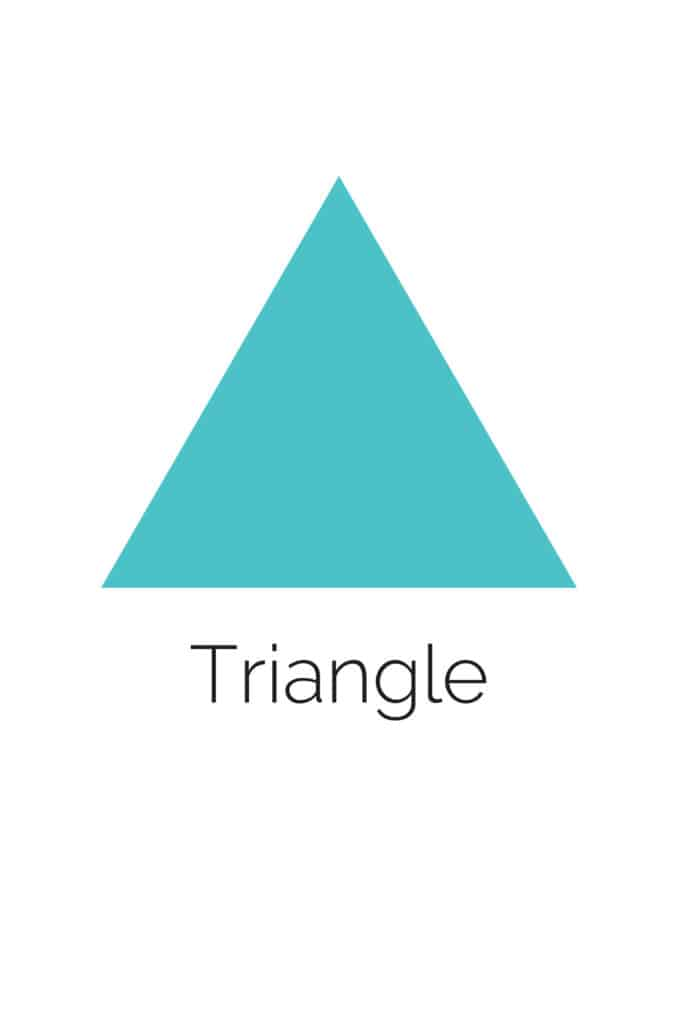 free printable triangle shape with color