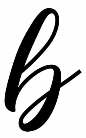 calligraphy for beginners free printable calligraphy B lowercase