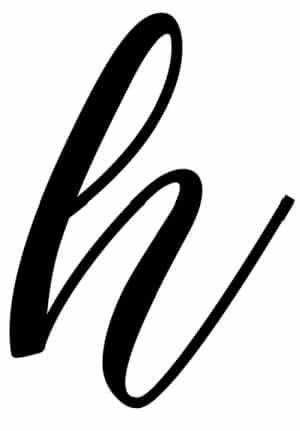 calligraphy for beginners free printable calligraphy H lowercase