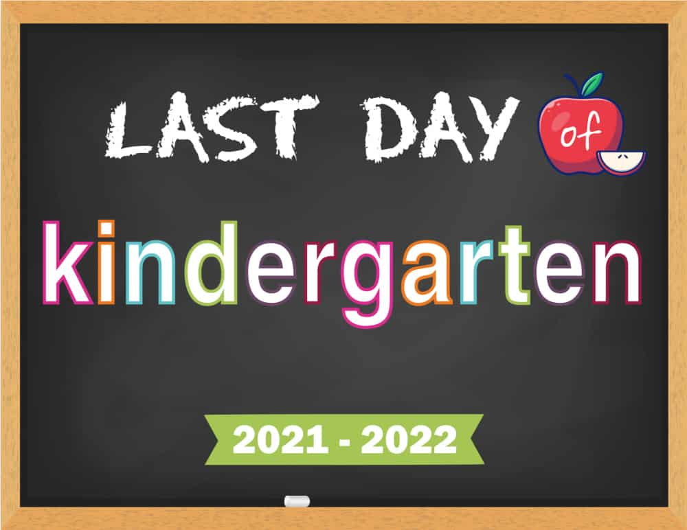 Get first and last day of school chalkboard signs to keep a visual reference of your child's academic progress.