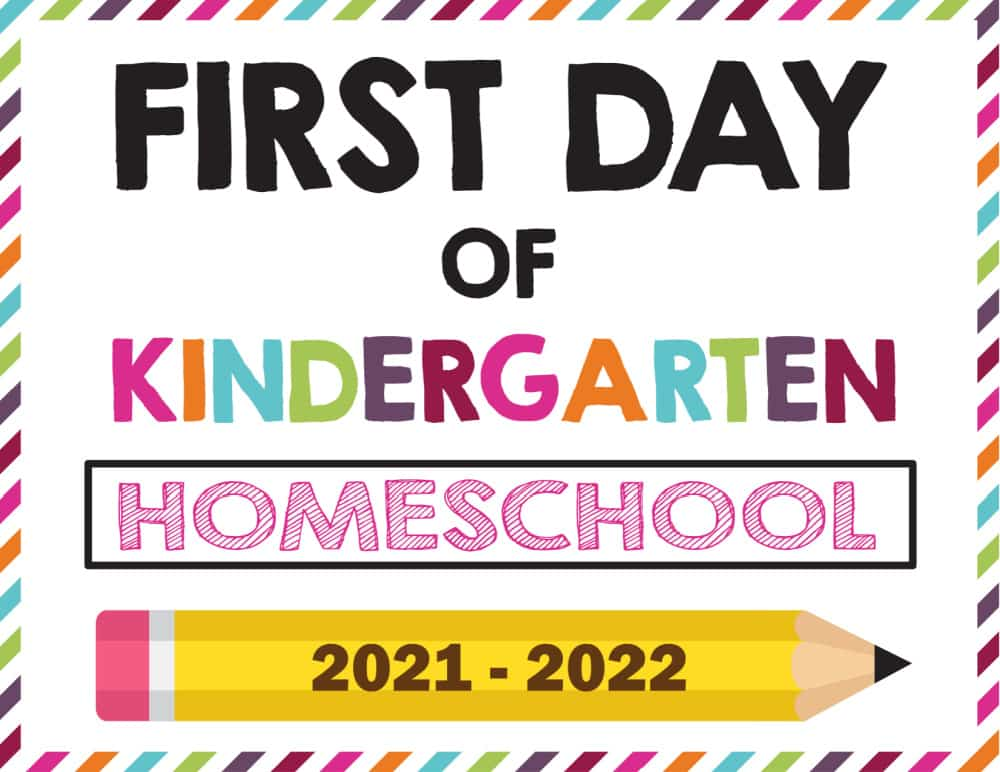 The pencil themed first day of school sign ideas include templates for homeschooling.