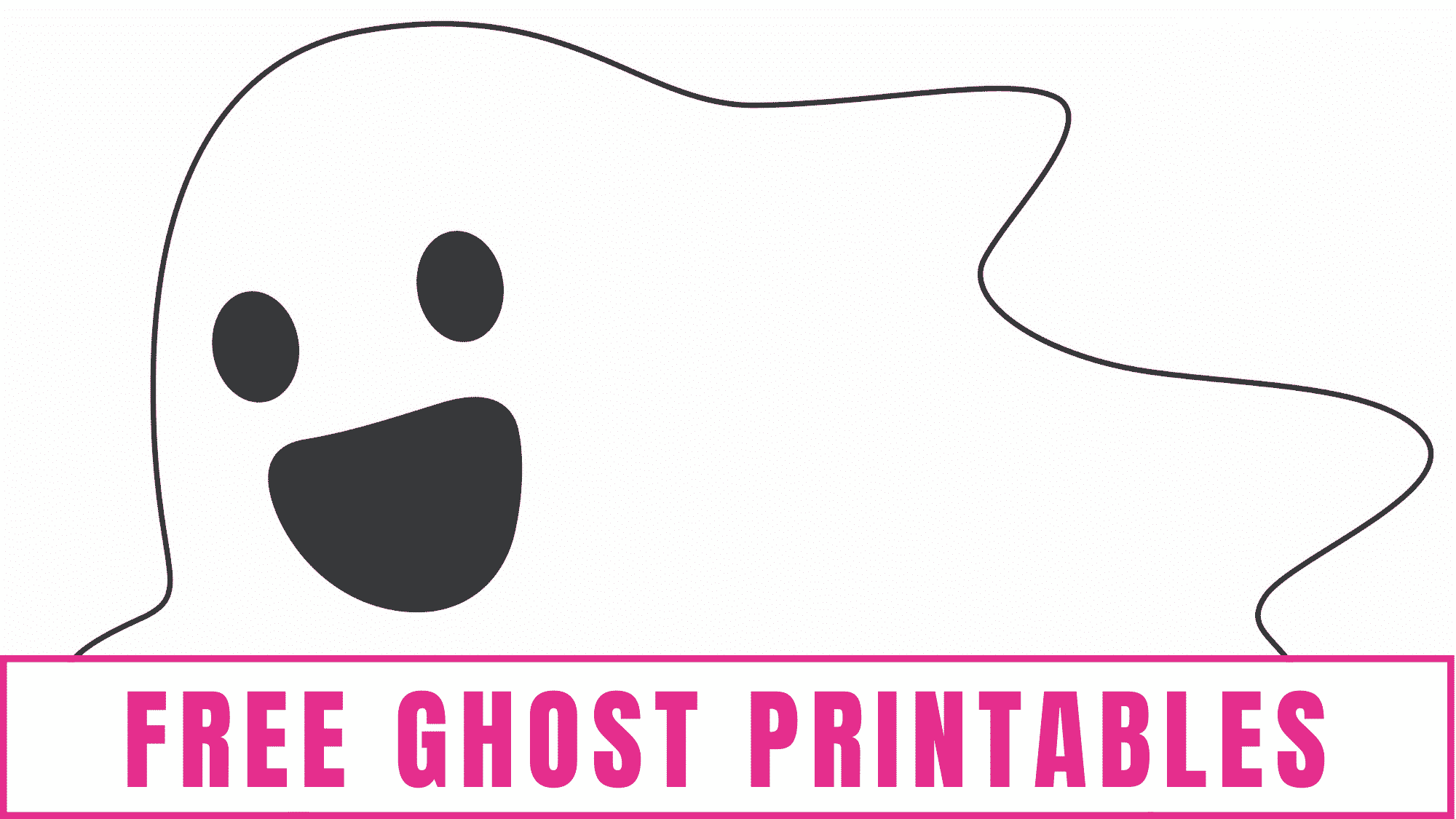 These free ghost printables are perfect to add to your boo printable.