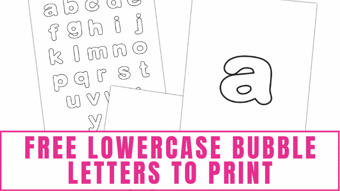 If you are teaching young kids the alphabet, use these free lowercase bubble letters to print. They are also useful for homeschooling, school projects, scrapbooking, crafts, and more!