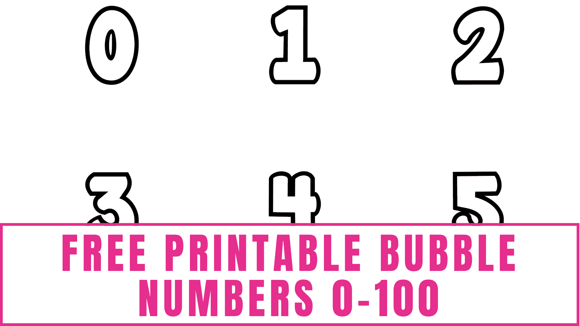 Can your kid count to 100? If they need help learning how to count numbers use these free printable bubble numbers 0-100 to make flashcards, educational coloring sheets, tracing worksheets, and more!