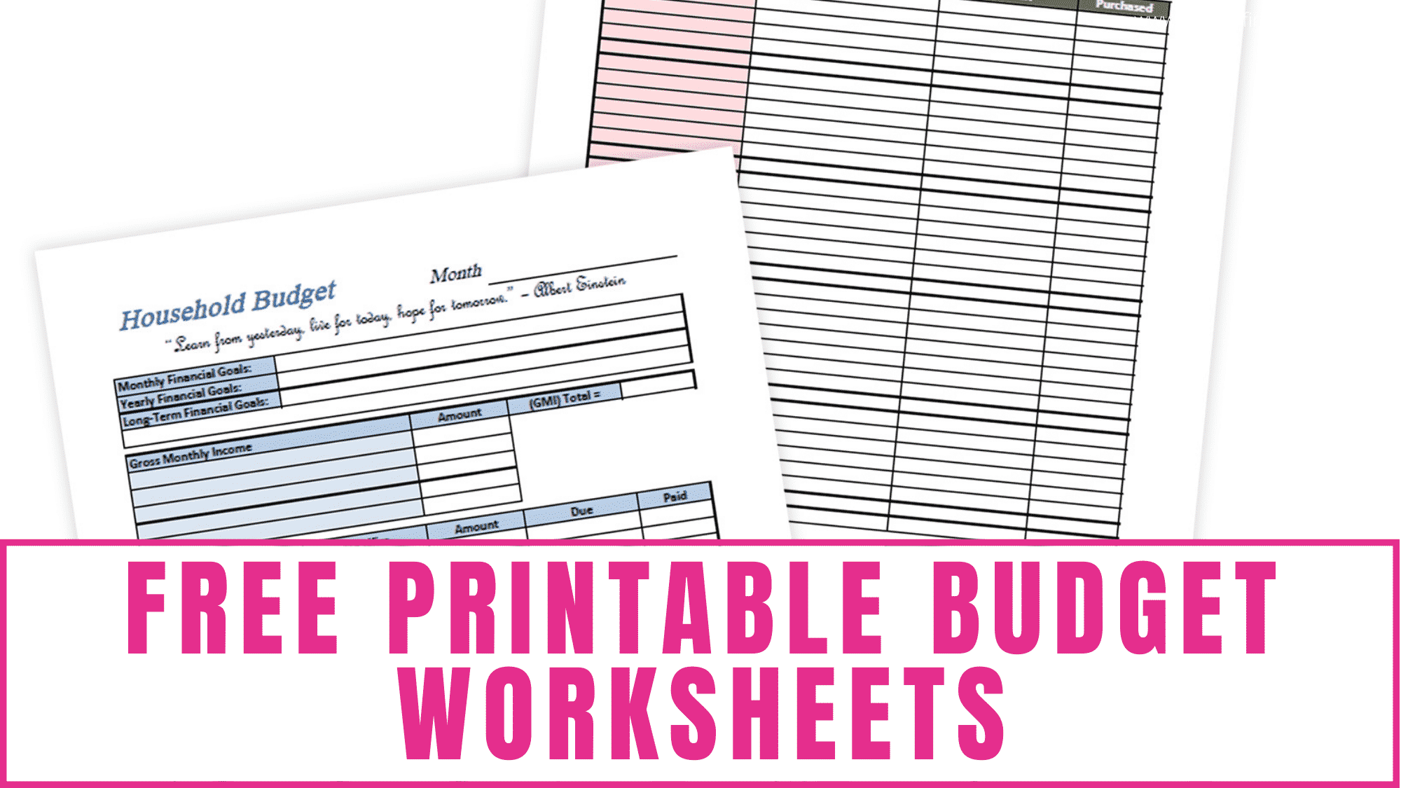 Need help with your finances? Learn how to budget your money using these simple yet effective free printable budget worksheets.